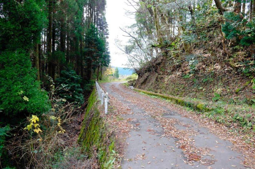 平野台高原展望所から黒川温泉へ。マジで人がいない。