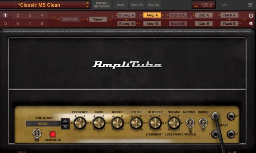 Amplitube 4 JH Gold