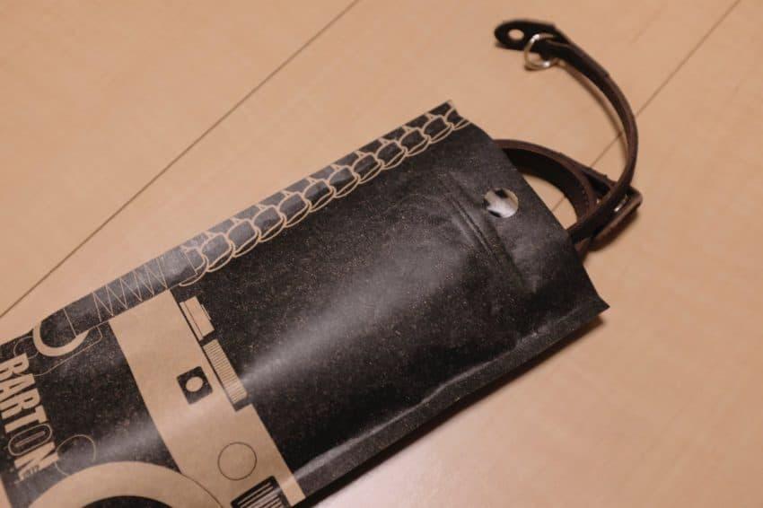 Barton1972 レザーカメラストラップの袋