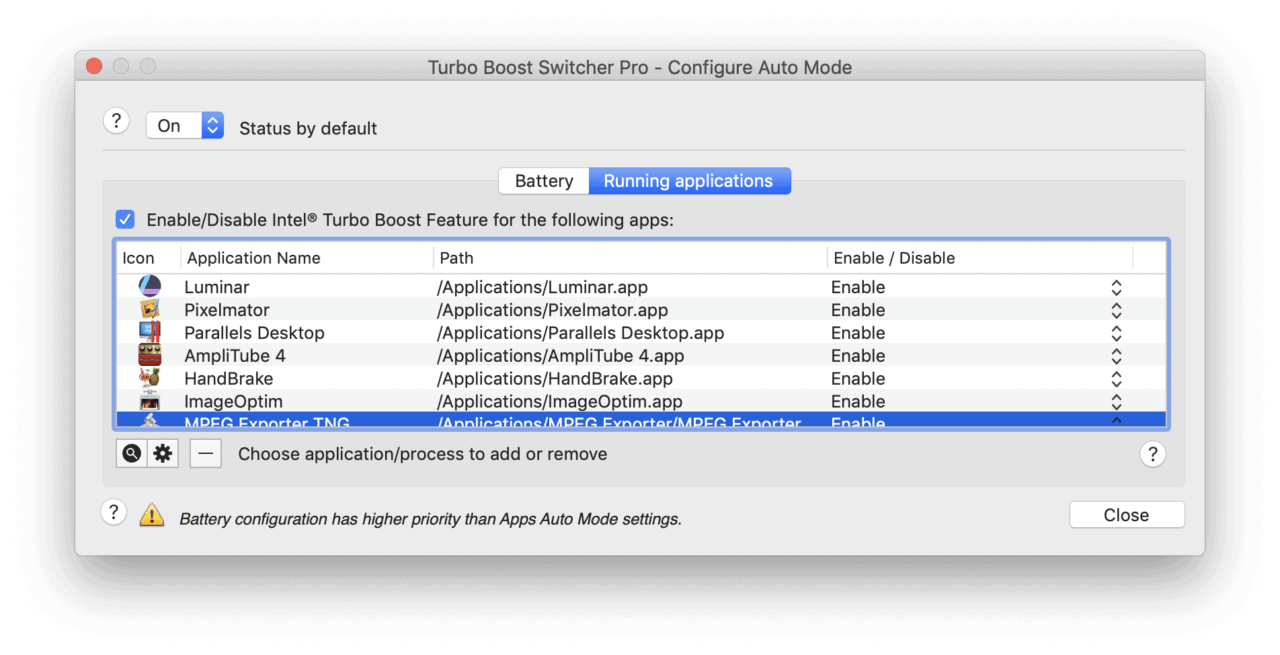 Turbo Boost Switcher for OS X